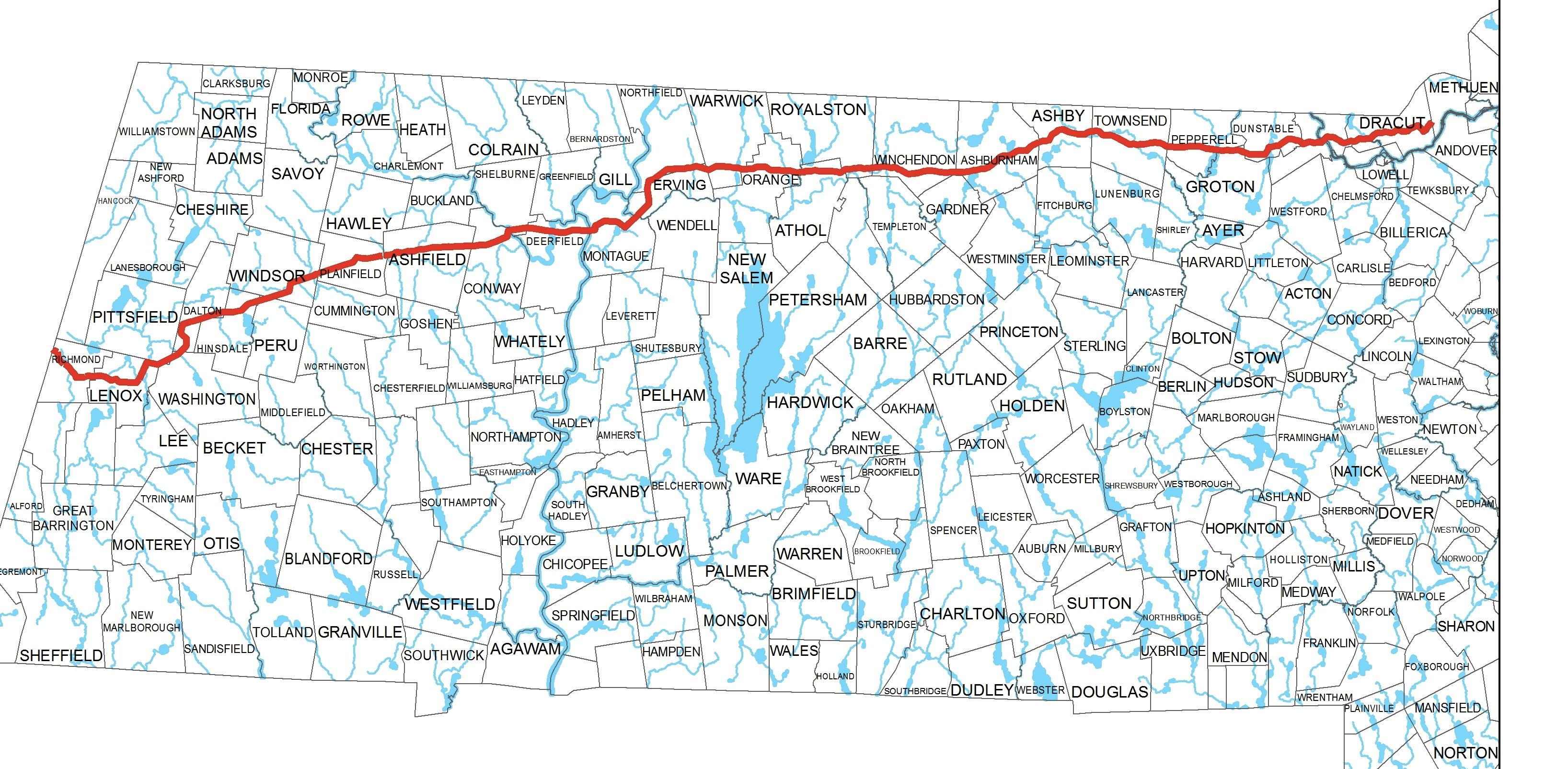 Kinder Morgan map