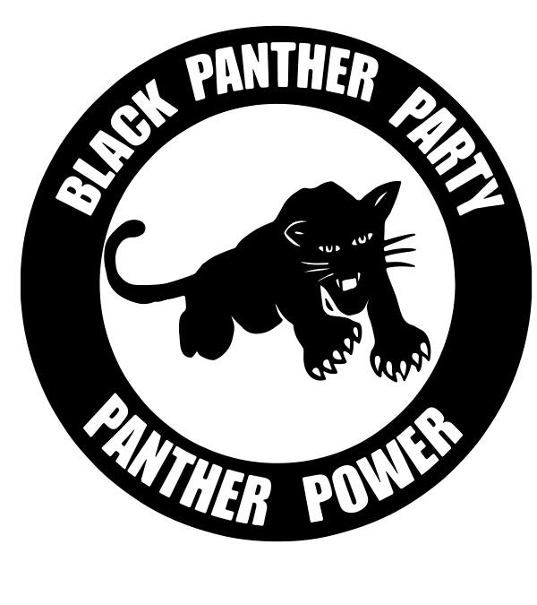 Black & White emblem of the black panthers
