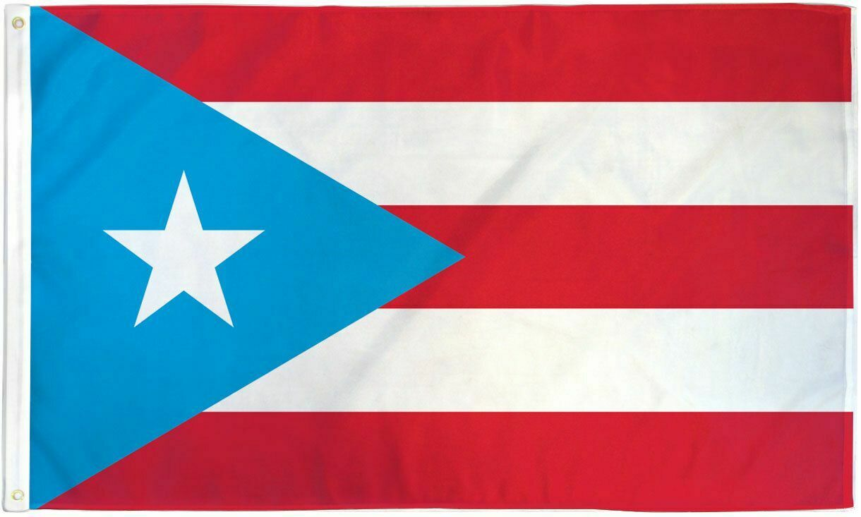 Older Puerto Rican flag with light blue instead of navy blue.