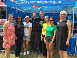 Australian Marriage Equality at Fair Day 2017
