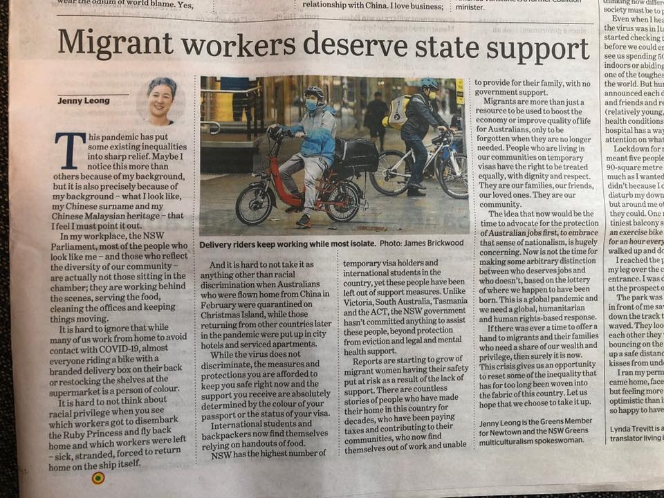 Opinion piece in Sydney Morning Herald