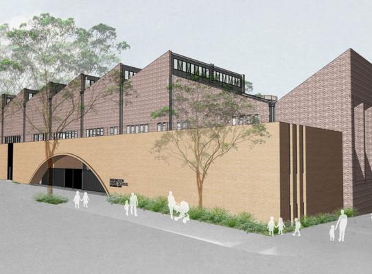 Concept art image for Darlington Public School redevelopment