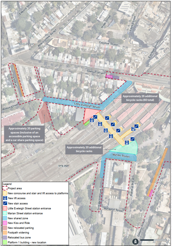 Map showing planned upgrades.