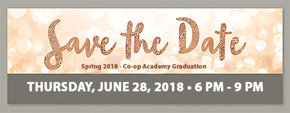 GWC Banner - Save the Date Co-op Academy Graduation