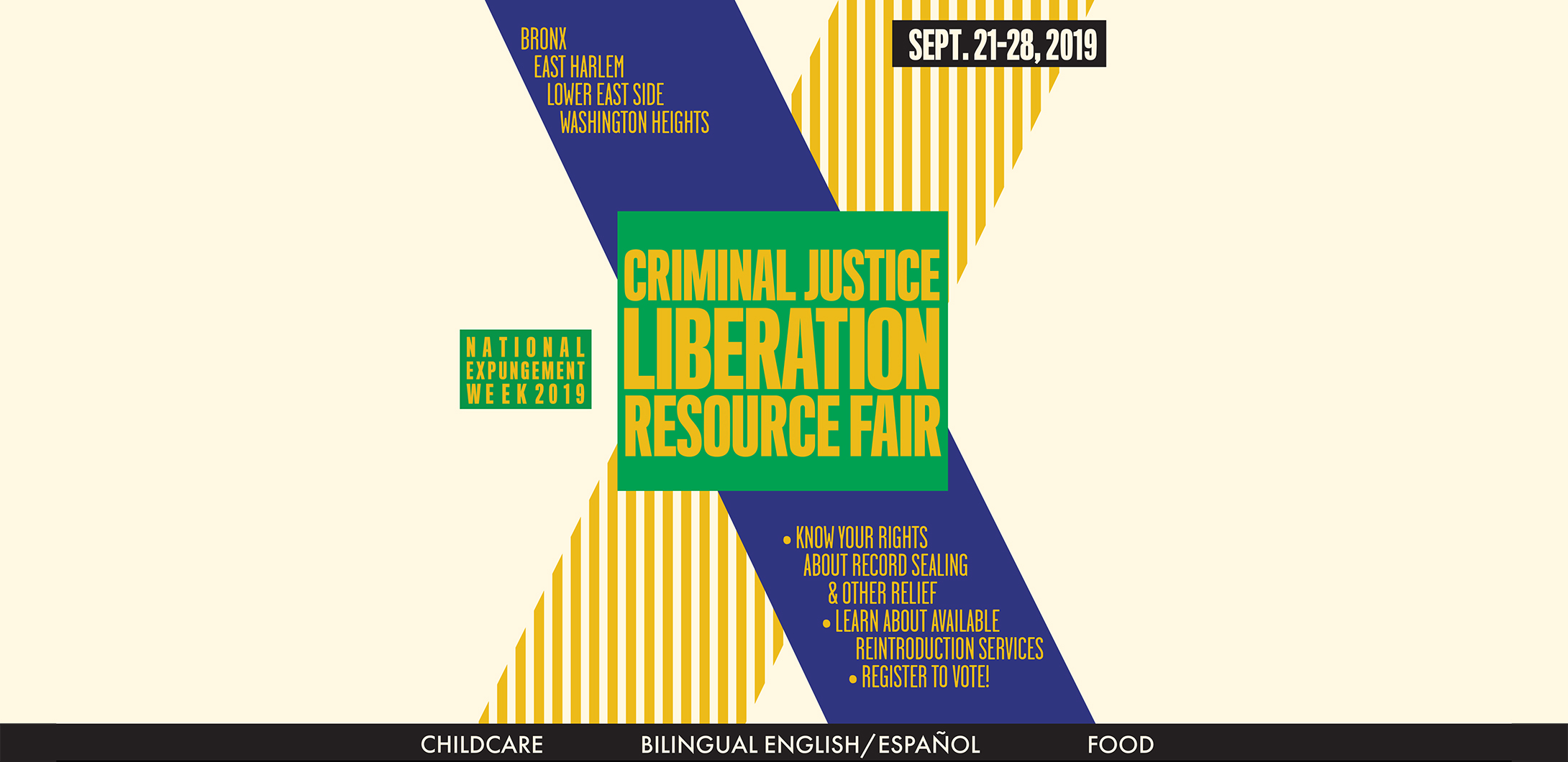 Criminal Justice Liberation Resource Fair Green Worker Cooperatives Header Flyer