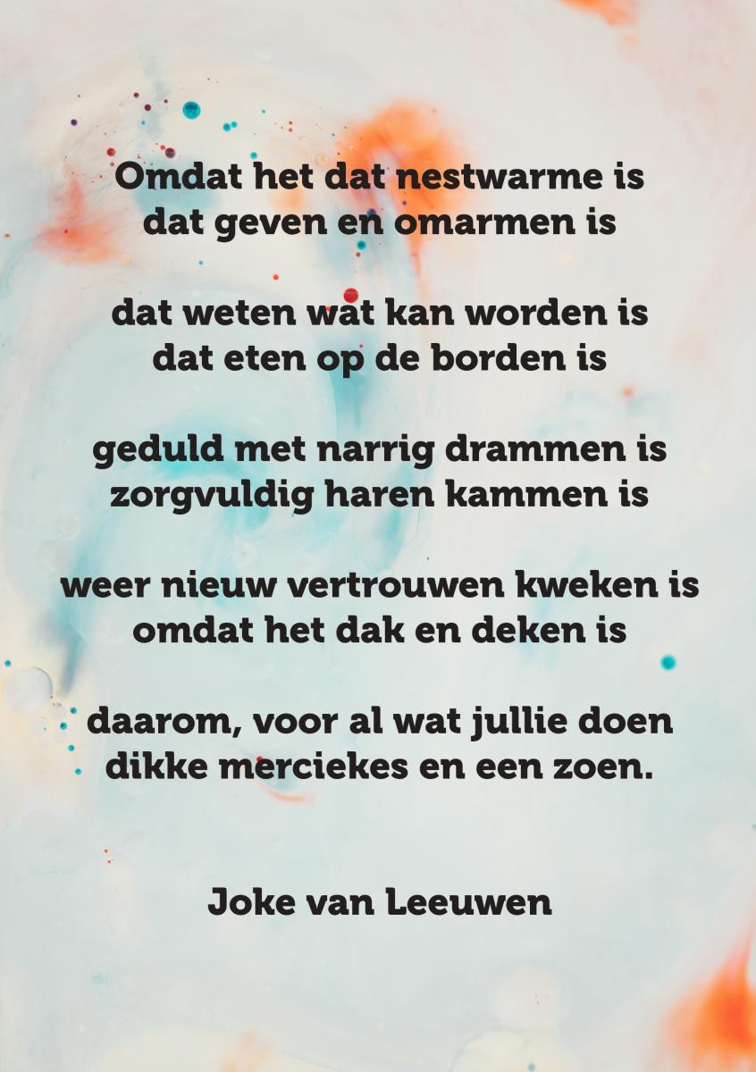 Gedicht Joke Van Leeuwen