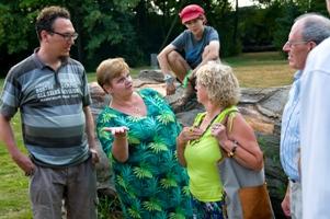Gerda en Marinette over het stadspark