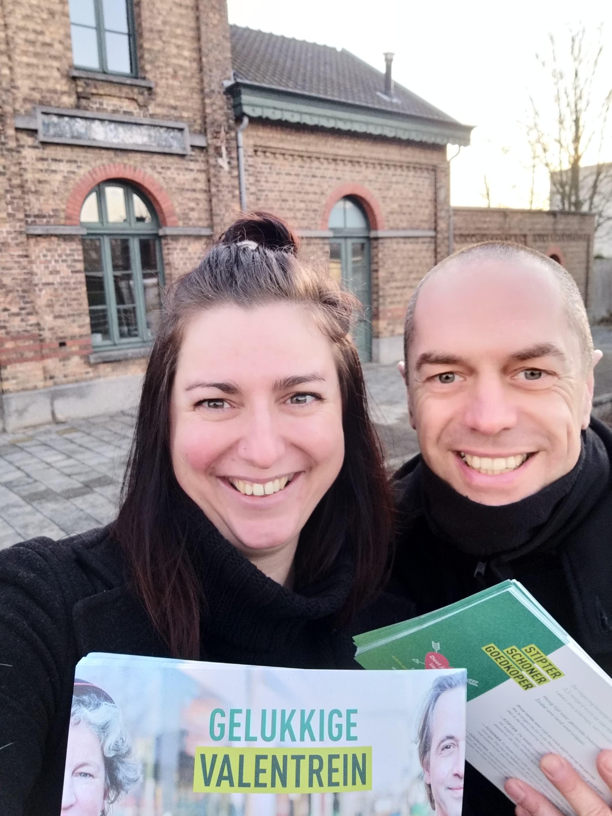 Naan Colman en Eddy Colombeen - station Sleidinge