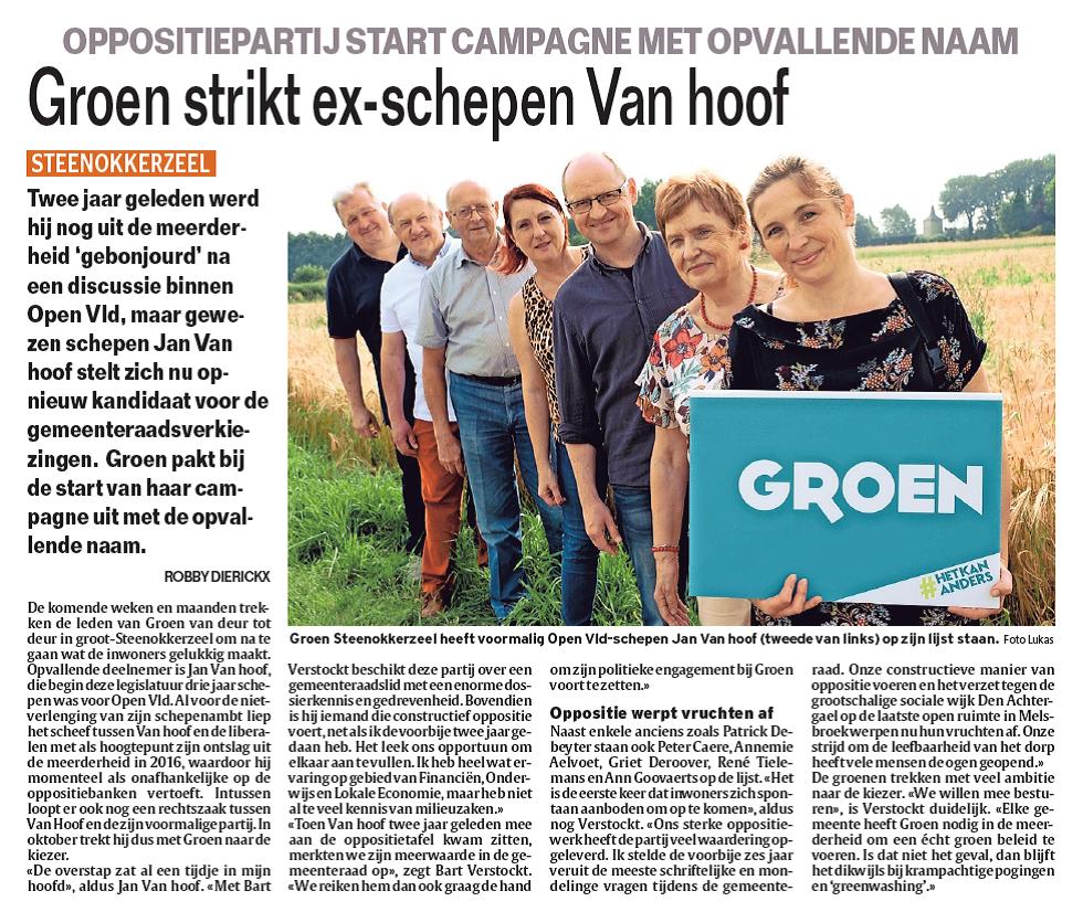 artikel Jan Van hoof