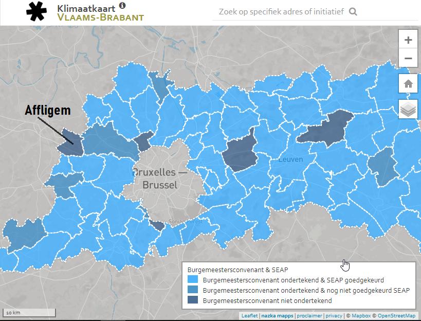 klimaatkaart Vlaams-Brabant