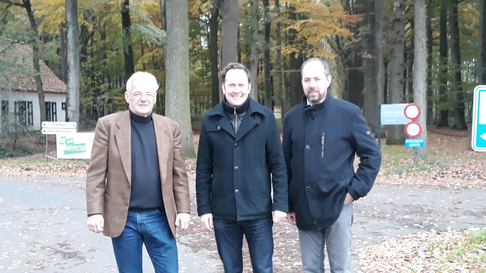 Schpen van Toerisme Jan Vanasschen (GROEN), Burgemeester Jos Sypré tCD&V), Schepen van Openbare Werken Claudio Saelens (CD&V)