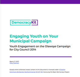 Engaging Youth on Your Municipal Campaign