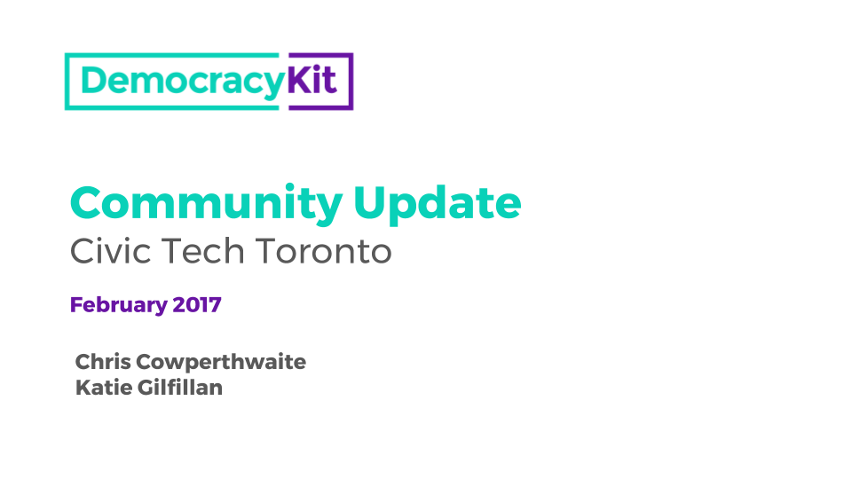 DemocracyKit Community Update - February 2017