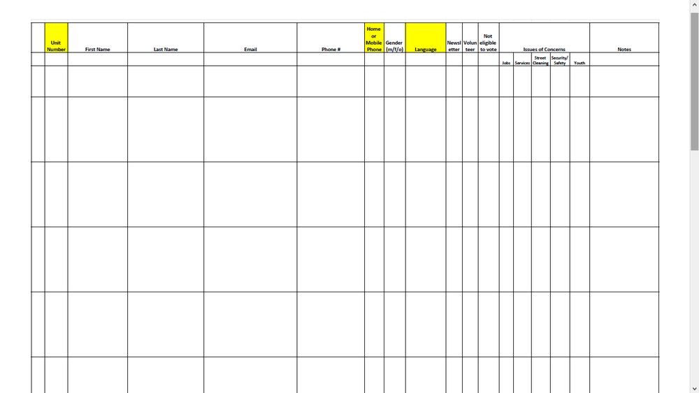 example walk sheet template political campaigns resource by