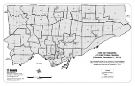 City of Toronto Addresses Lists: Ward 1 - 47 Data