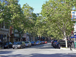 University Avenue, the heart of Palo Alto's downtown