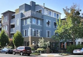 Attractive four-story condos walking distance from downtown