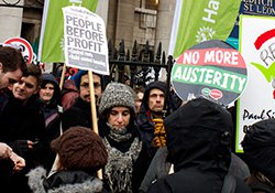 Campaigns - no to austerity protests