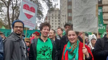 Hackney Green Party members at the march