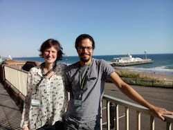 Samir and Charlotte by the sea front