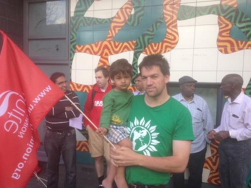 Hackney Greens at the strike