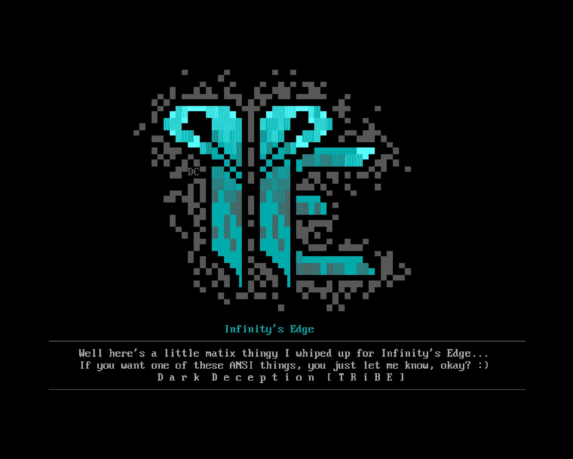 Infinity's Edge ANSI art