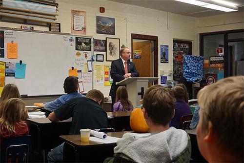 Jim Hagedorn Speaking to Class