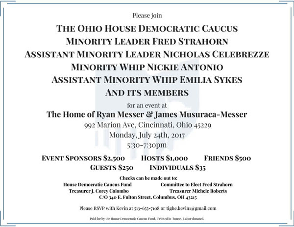 Ohio House Fundraiser