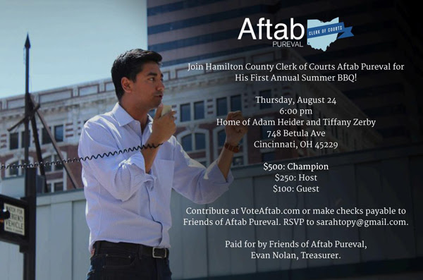 Aftab Pureval First Annual Summer BBQ