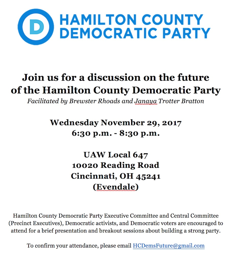 Hamilton County Democratic Party Future Discussion