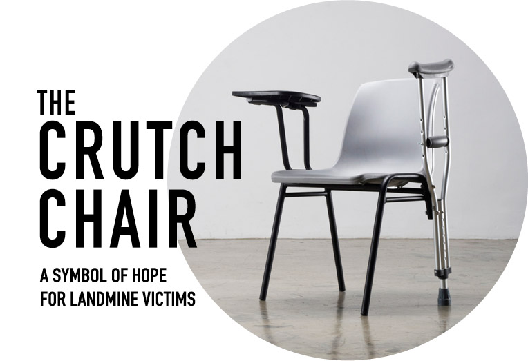 [image of chair w/ crutch for leg]