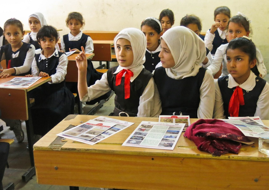 Iraq: Mine risk education for displaced children