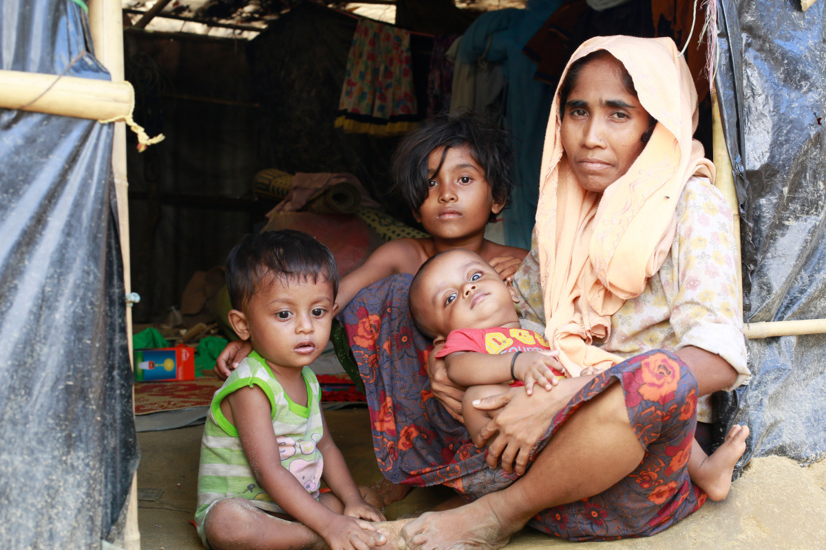 """Rohingya refugees live in inhumane conditions"""