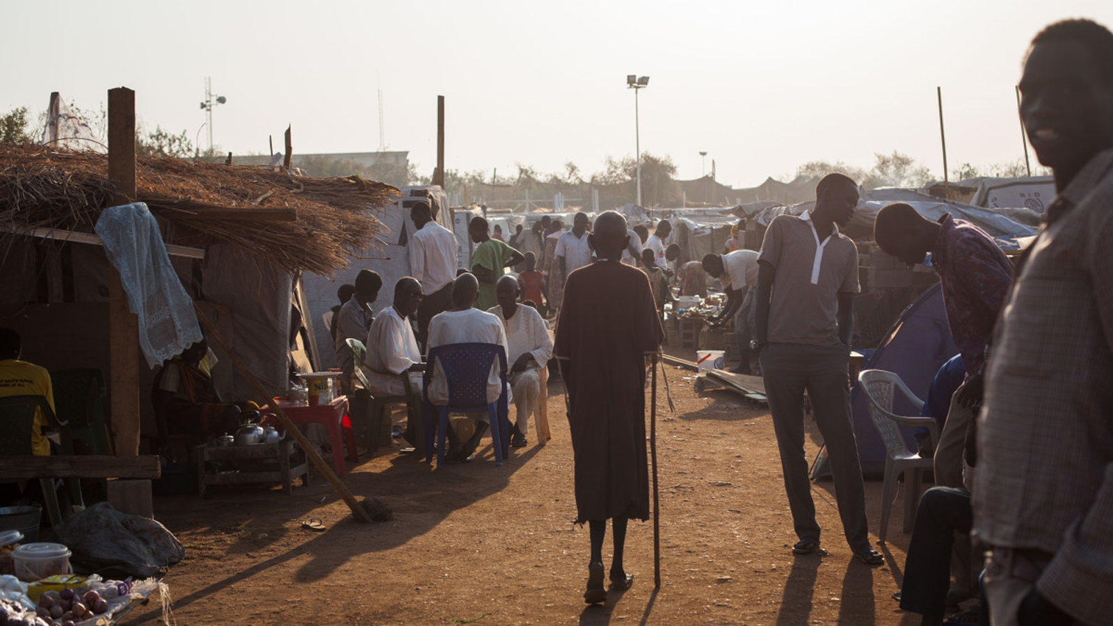 More than 15000 people at a IDP camp in South Sudan in 2014