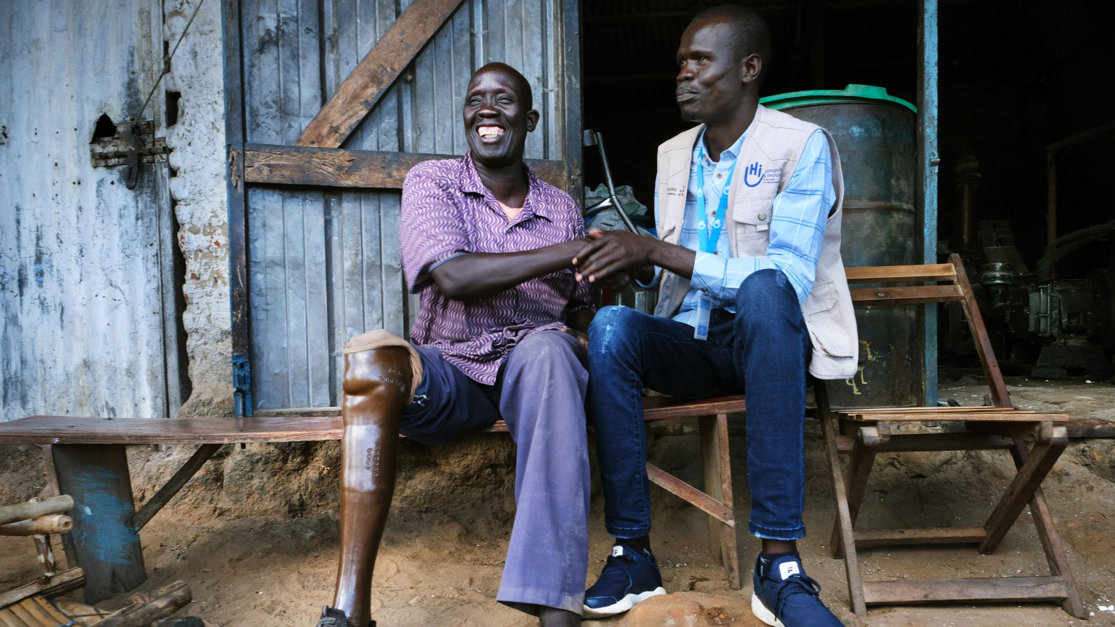 Oliver -45 -receives-rehabilitation-care-from-a-physical-therapist-with-Humanity- -Inclusion-in-South-Sudan