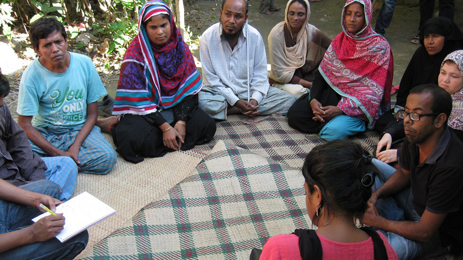 A group of people meet in Bangladesh to discuss the rights of people wtih disabiltieis