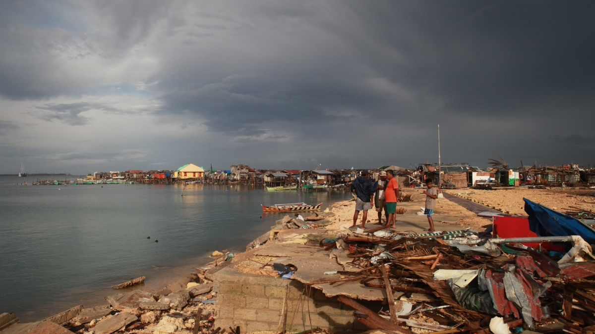 The town of Guiuan severly hit by Typhoon Haiyan