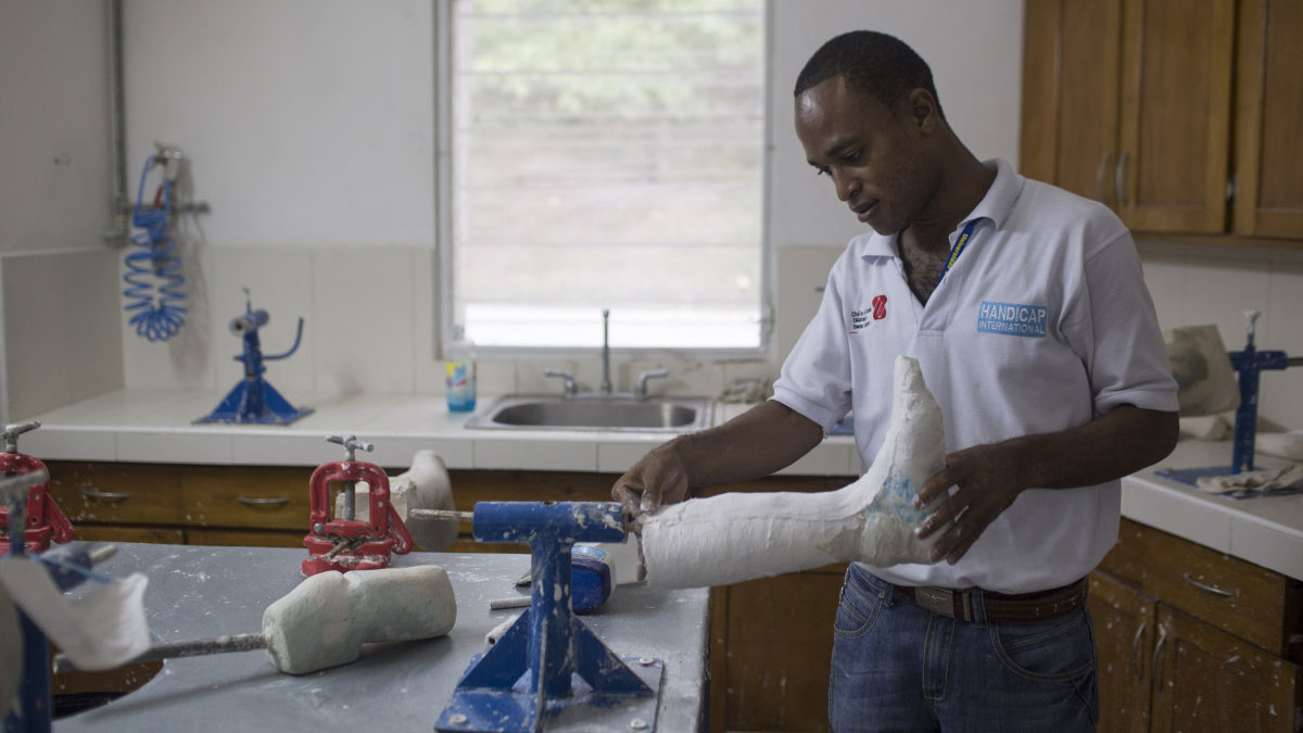 Haitian Amputee Now Makes Prostheses for Others