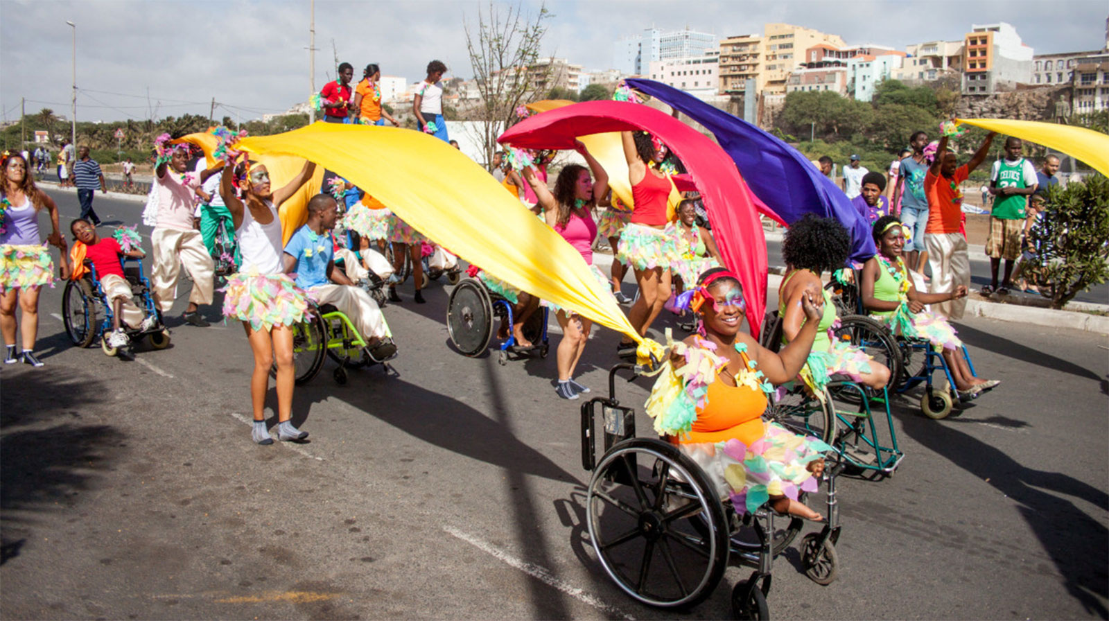 people-with-disabilities-in-a-parade-in-Cape-Verde