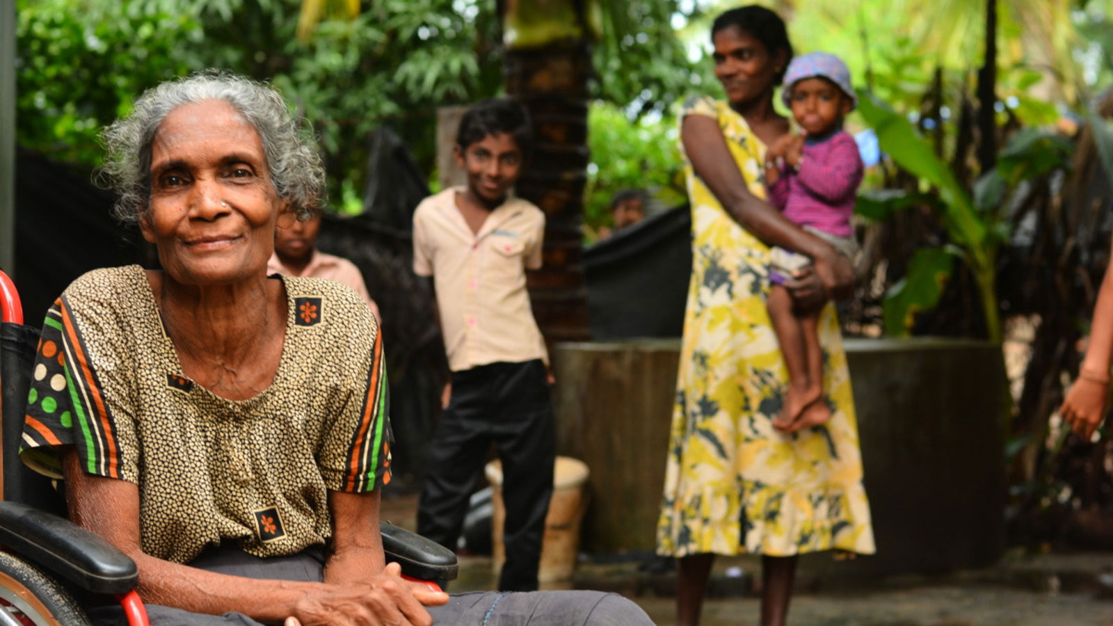 Arumugam Pakkiyam in her village in Sr Lanka in 2015