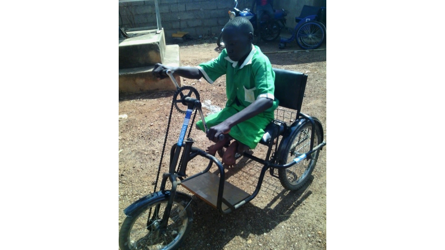South Sudan Update | Emmanuel can now travel to school by himself on his tricycle