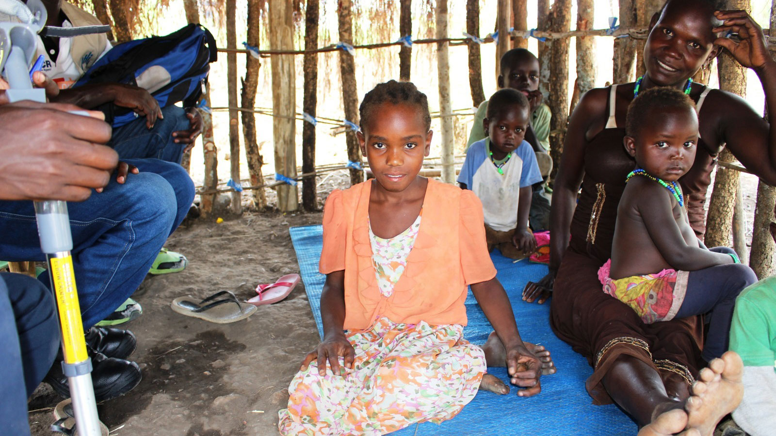 Tabitha 8 receives new crutches to help her walk to school in Uganda