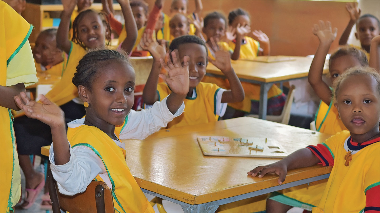 Children at a inclusive school in Ethiopia web