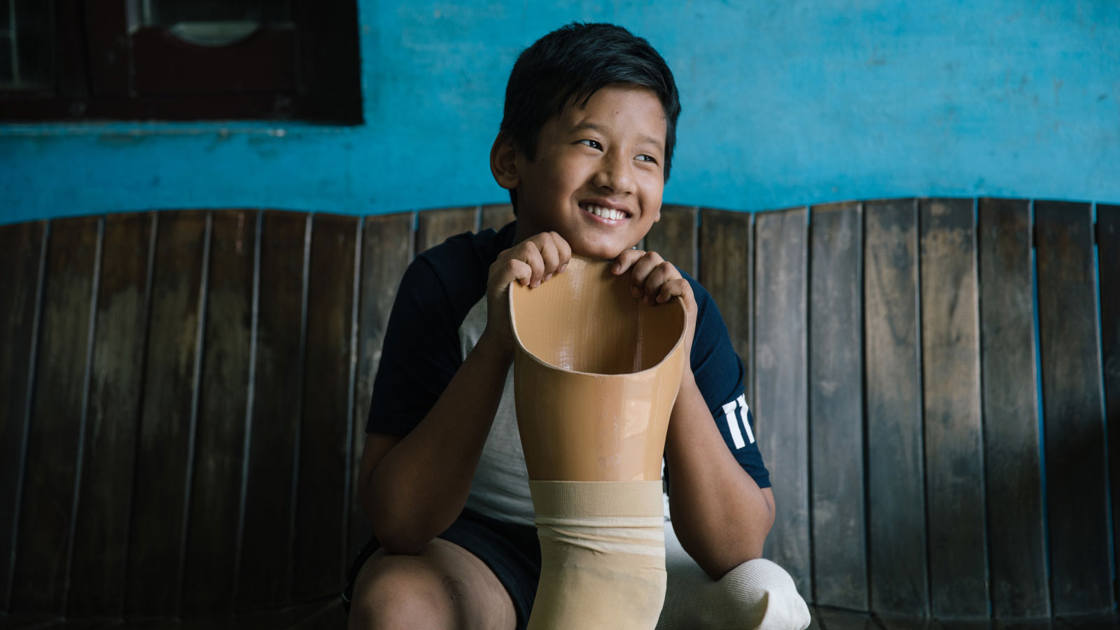 Nepal | Nishan gains strength to play his favorite sport: badminton!