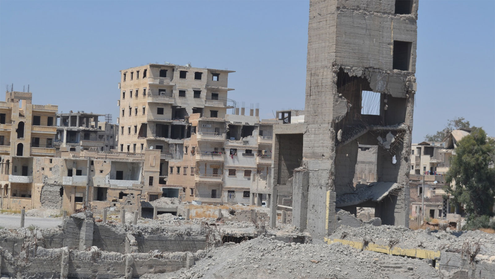 City-landscape-damaged-by-the-use-of-explosive-weapons-in-populated-areas-in-Syria