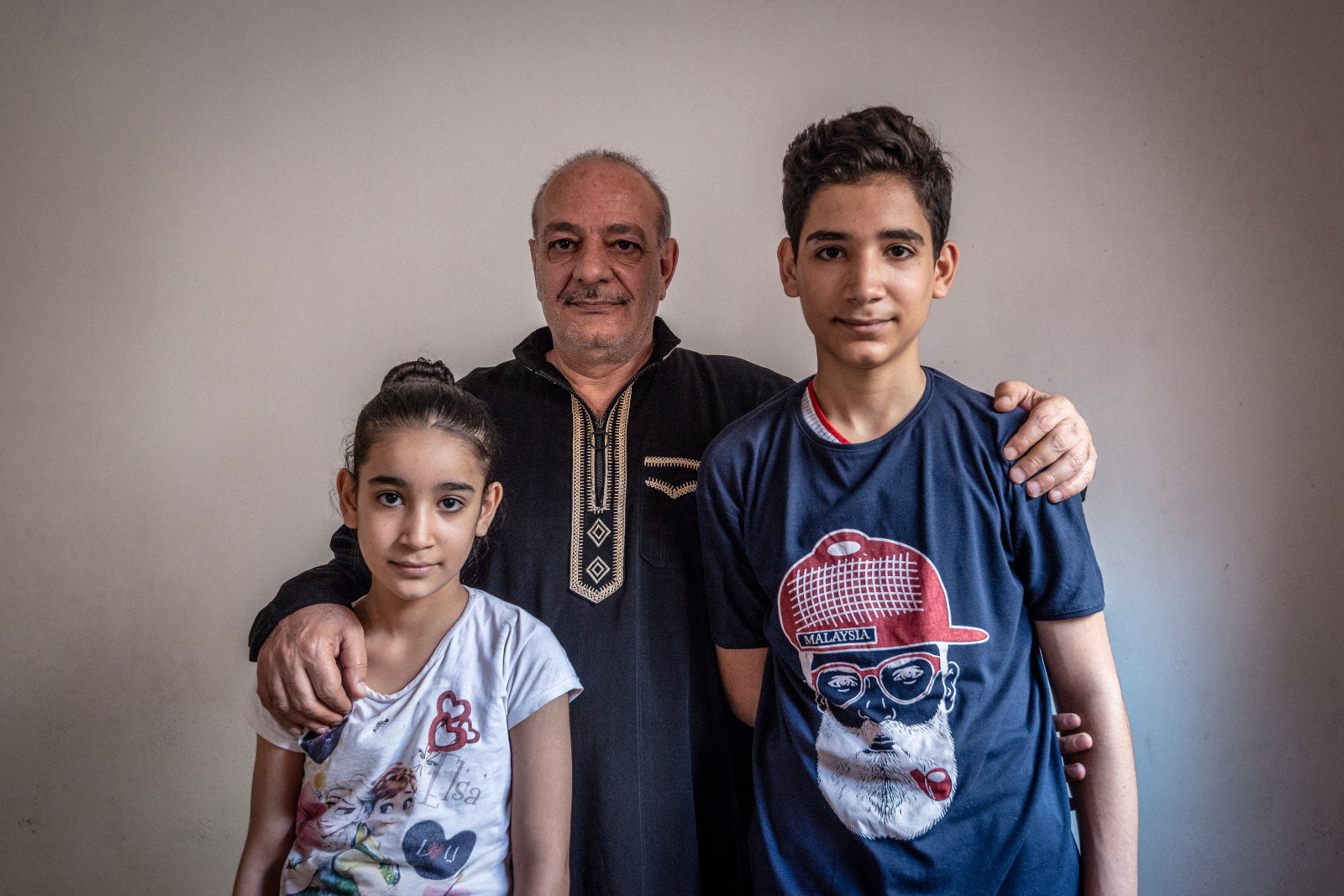 Kamal and his family, Syrian refugees that fled to Jordan