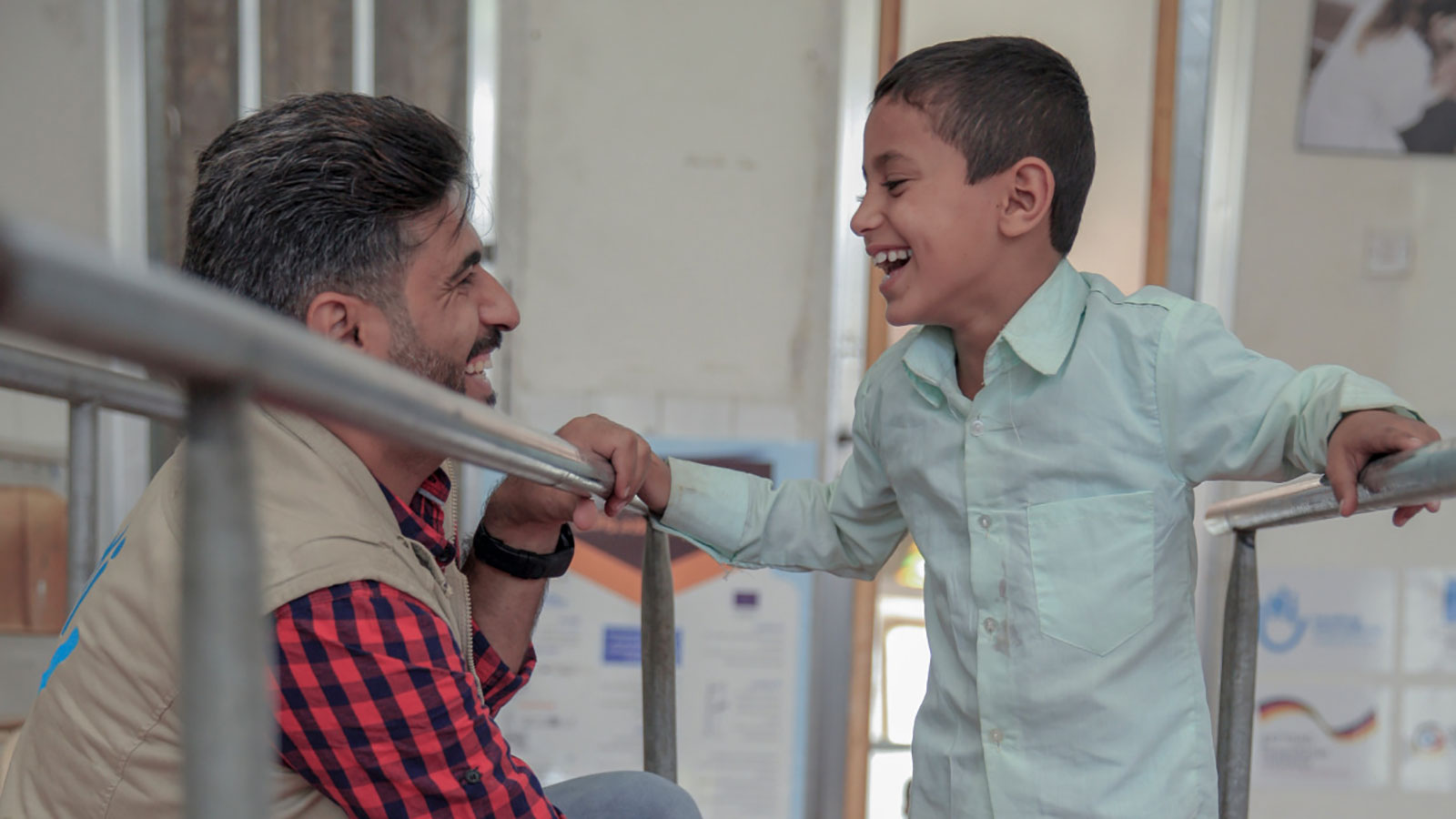 Marwan -7 -lost-his-leg-due-to-a-bombing-in-Yemen.-Here -he-receives-physical-therapy-from-HI's-team-in-Sanaa