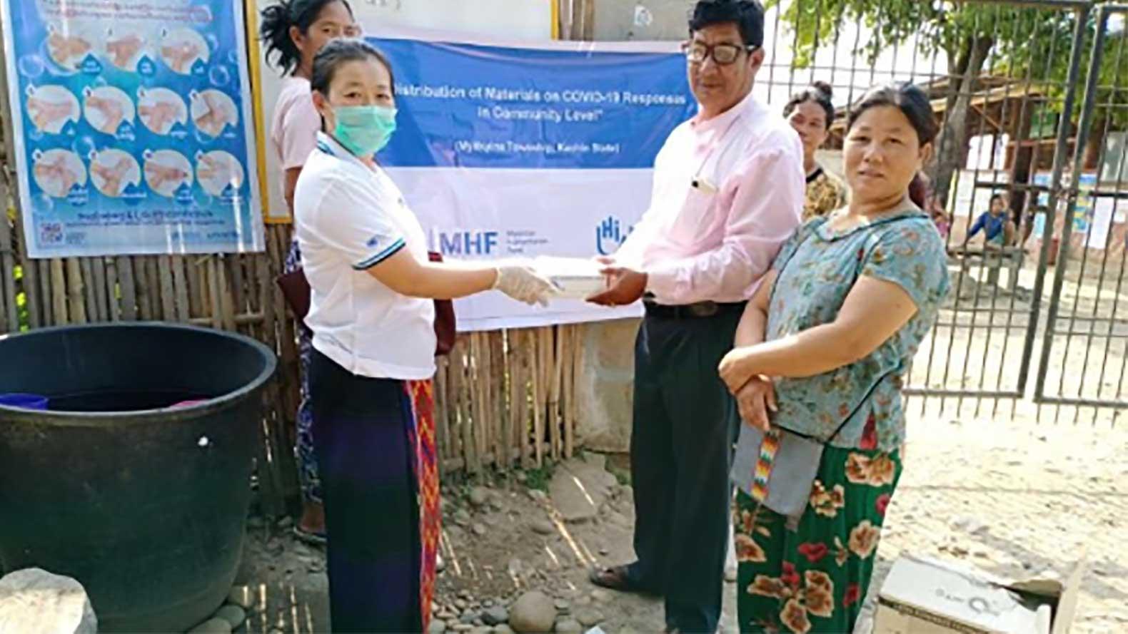 COVID-19 in Myanmar | Providing masks & virtual rehabilitation care