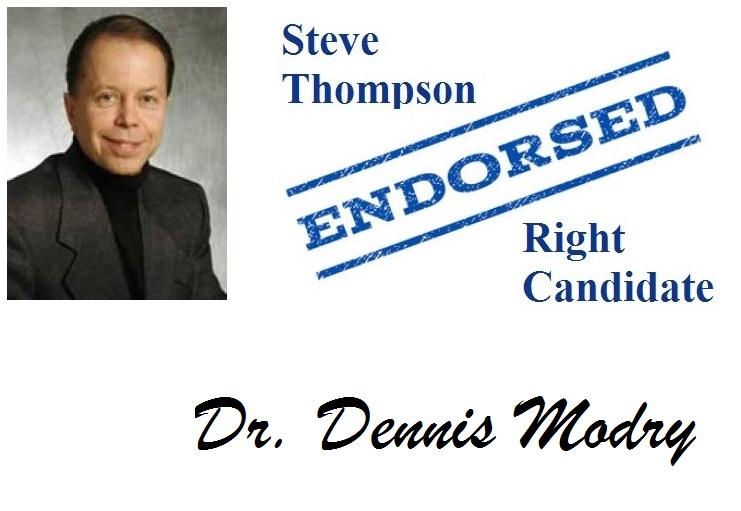 Dr. Dennis Modry Endorsement for Steve Thompson