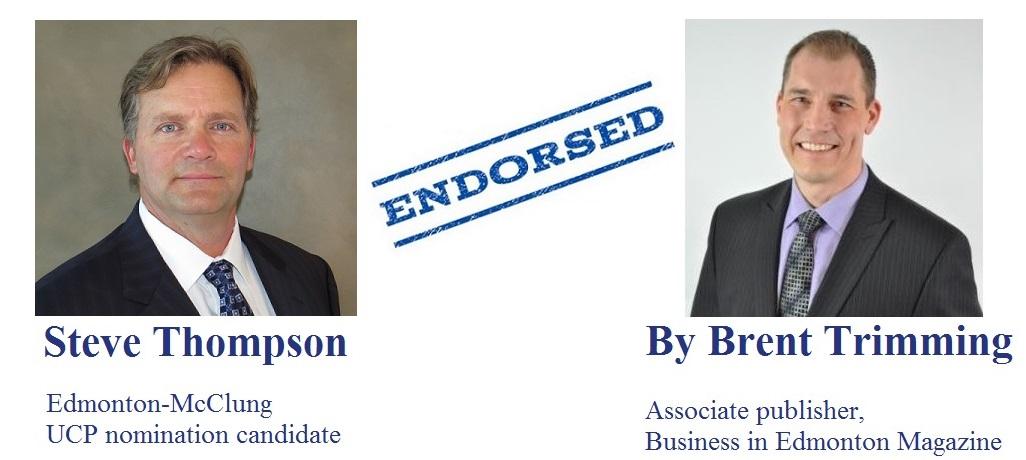 Brent Trimming Associate Publisher Business in Edmonton Magazine endorsement